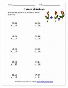 multiplication with decimals worksheets grade 5 7412 products of decimals