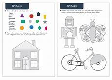 early learning resources 2d shapes maths worksheets