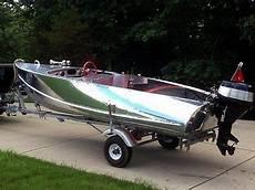 rare 1956 feather craft 15 vagabond ii vintage aluminum boat restored boats motors