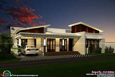 contemporary single floor 1200 sq ft kerala home design and floor plans
