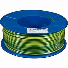 1 5mm building wire green yellow earth 100m roll mjs electrical supplies