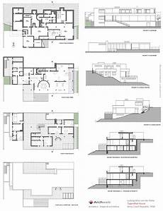 tugendhat house plan tugendhat house drawings plan
