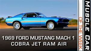 1969 Ford Mustang Mach 1 428 Cobra Jet Ram Air Muscle Car