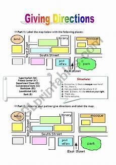 giving directions worksheets easy 11675 giving directions pairwork esl worksheet by jadmi
