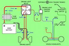 car spotlight wiring diagram i m adding spot lights to my triton glx r 06 and need to know the easiest place to
