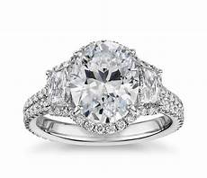 the gallery collection vintage oval halo trapezoid