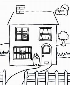 house coloring pages coloring home