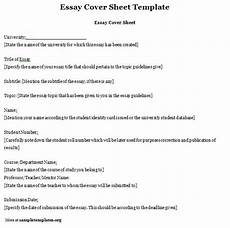 essay template for cover sheet exle of essay cover sheet template sle templates