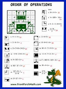 free worksheet to practice order of operations from front porch math order of operations 7th