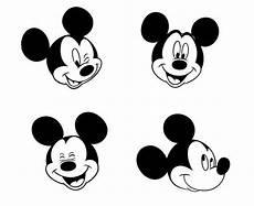 Micky Maus Gesicht Malvorlage Mickey Mouse 8 Gesicht Entw 252 Rfe Schneidbare Vektor