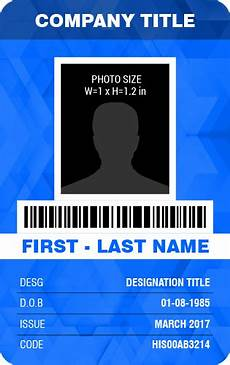 id card template in excel free vertical design employee photo id badge templates word