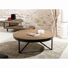 Table Basse Ronde En Bois De Teck Et Ses Pieds En M 233 Tal 224
