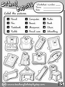 colors and school objects worksheets 12788 school objects worksheet 1 b w version lessons teaching resources