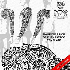 sacred maori polynesian warrior of fury stencil