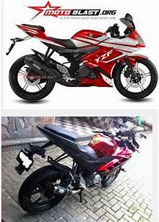 Yamaha R15 Modifikasi Stiker by Gambar Modifikasi Motor Yamaha R15 Dan R25 Striping Stiker