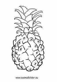 Lustige Ausmalbilder Obst Ausmalbilder Ananas Obst Und Gem 252 Se Malvorlagen