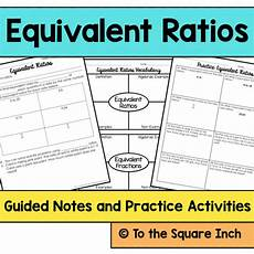 equivalent ratios notes teaching resources