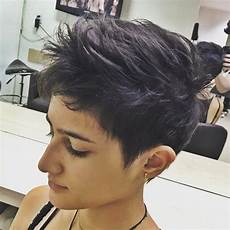 short spiky pixie haircut with long bangs pin on asymmetrical pixie
