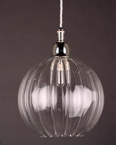 hereford ribbed glass globe bathroom pendant light fritz