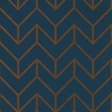 marineblaue tapete mit goldenem geometrischen muster