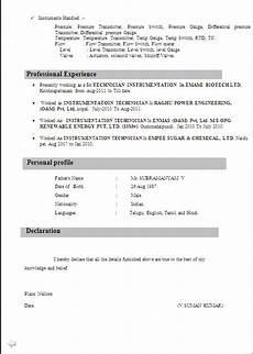 iti student resume format anjinho b
