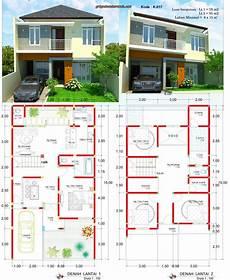 Desain Rumah Lebar 8 X 15 Meter 2 Lantai Minimalis Jasa