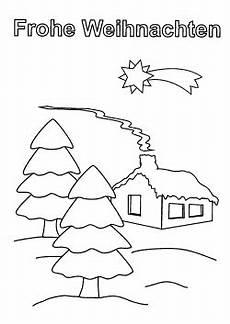 Ausmalbilder Weihnachten Haus Kostenlose Weihnachtskarten Zum Ausdrucken Und Ausmalen