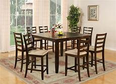 dining room table with 8 chairs 9 pc square counter height dining room table 8 chairs