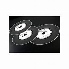 set de table vinyle set de table disque vinyle noir rock n roll 34 cm les 6