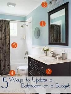 bathroom updates ideas 5 ways to update a bathroom on a budget burger