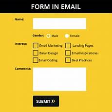 forms in email embed html form in email emailmonks