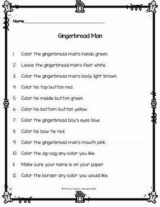 following directions comprehension worksheets 11654 read and color to follow directions activities reading comprehension december following