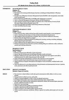 pharmacy clerk resume sle may 2020
