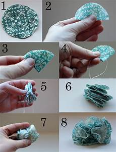 Cup Of Delight How To Make Fabric Pom Pom Flowers