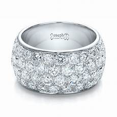 custom pave diamond wedding ring 100875 seattle
