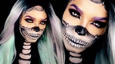 Totenkopf Schminken Frau - half skull makeup tutorial reattached