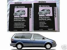 auto repair manual free download 2004 toyota sienna spare parts catalogs toyota sienna repair manual ebay