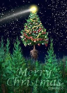 the egregious merry christmas tree portrait digital art by kightley