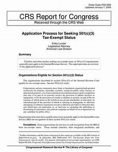 application process for seeking 501 c 3 tax exempt status digital library