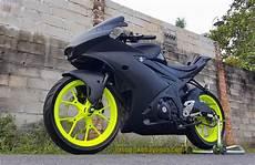 Suzuki Gsx R150 Modif by Modifikasi Suzuki Gsx R150 Hitam Ala Moto3 Kobayogas