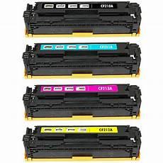4 pack toner set for hp laserjet pro 200 color mfp m276nw
