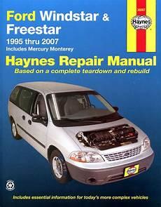 chilton car manuals free download 2006 ford freestar lane departure warning ford windstar freestar mercury monterey haynes repair manual 1995 2007 hay36097