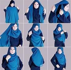 Tutorial Anak Segi Empat Jilbab Gucci