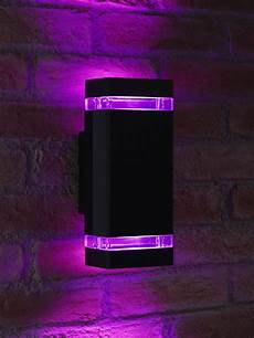 auraglow remote control colour changing led double up down outdoor wall light ebay