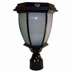 solar goes green solar black led outdoor warm white coach light with convex glass panels and 3