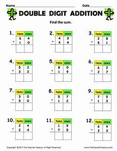 addition without regrouping grade 1 free printable digit addition without regrouping