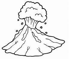 ausmalbild dinosaurier und steinzeit steinzeit vulkan