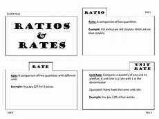ratios rates and unit rates foldable by 123 teach