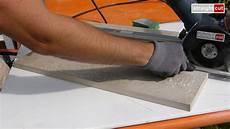 Schneiden 20mm Feinsteinzeug Terassenplatten Mit Einem