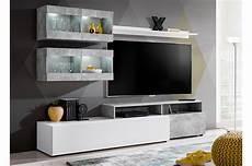 meuble t 233 l 233 mural design blanc b 233 ton pas cher pour salon